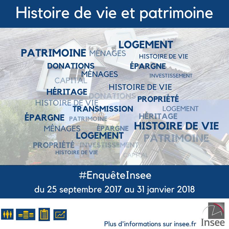 INSEE : Enquête sur l'histoire de vie et le patrimoine des ménages